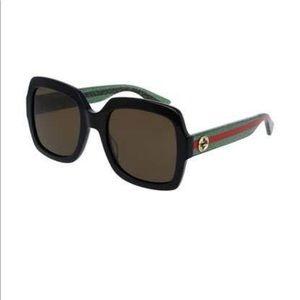 Gucci Black with Red trim Sunglasses